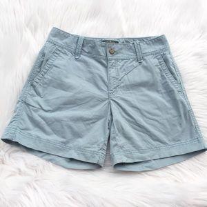 Eddie Bauer Size 4 Light Blue Midi Shorts